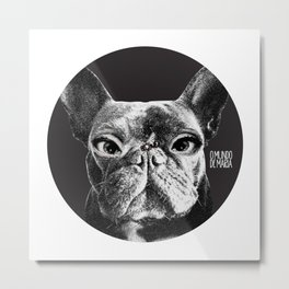 FRENCH BULLDOG FORNASETTI BEE Metal Print