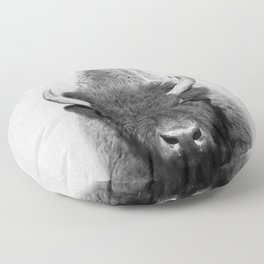 Buffalo - Black & White Floor Pillow