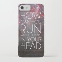 anxiety iPhone & iPod Cases featuring Anxiety by Ruveyda & Emre
