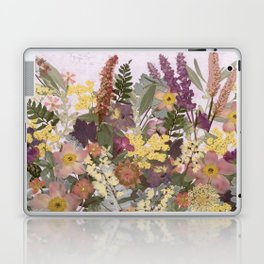 Pressed Flower English Garden Laptop & iPad Skin