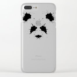 Rorshach Panda Clear iPhone Case