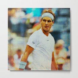 Nadal tennis Metal Print