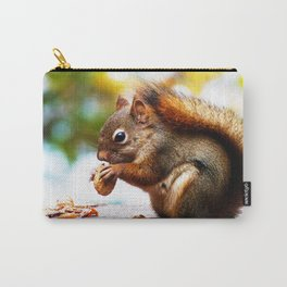 Red Squirrel Thanksgiving Carry-All Pouch