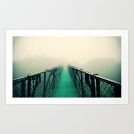 suspension bridge Art Print