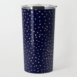 Dotted Gold & Midnight Travel Mug