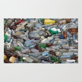 pollution by plastic bottles Rug