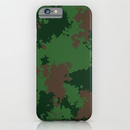 Camouflage forest iPhone Case