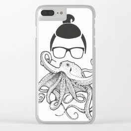 Octo Beard Clear iPhone Case