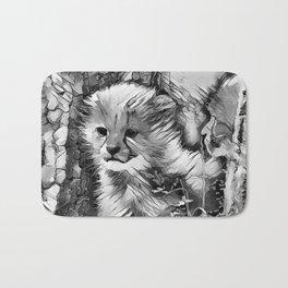 AnimalArtBW_Cheetah_20170601_by_JAMColorsSpecial Bath Mat