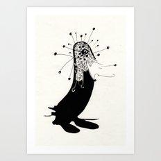 magic penguin Art Print