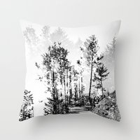 woodland Throw Pillows featuring Woodland by Schwebewesen • Romina Lutz