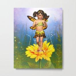 Butterfly Fairy 1 Metal Print