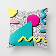 Abstract 1980's Throw Pillow