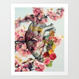 Heart & Flowers Art Print