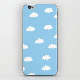 White clouds in blue background iPhone Skin