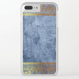 Blue Egypt Clear iPhone Case