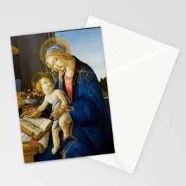 The Virgin and Child by Sandro Botticelli Stationery Cards