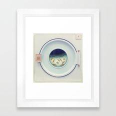 Tumbling goldfish Framed Art Print