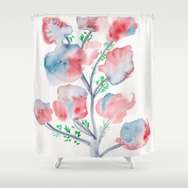 21  | Loose Watercolor Flower | 191015 Shower Curtain