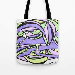 Pastel Party Play Graffiti Style Abstract Drawing Tote Bag