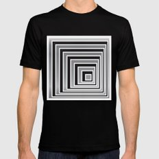 Cubes - Optical Game 9 Mens Fitted Tee Black MEDIUM