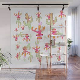 Cactus Family Day Wall Mural