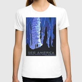 See America blue grotto vintage travel T-shirt