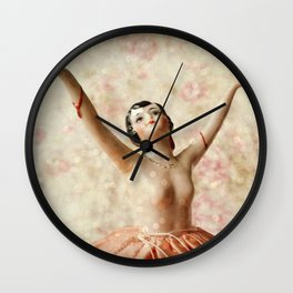 Dance in Sparkles Wall Clock