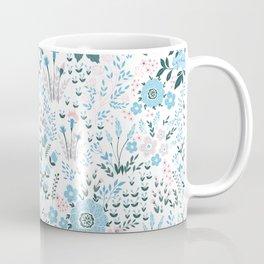Star Sapphire Floral Celebration Blue Coffee Mug