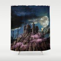 dracula Shower Curtains featuring Dracula by tanduksapi