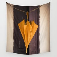 umbrella Wall Tapestries featuring Umbrella by Maria Heyens