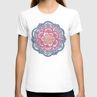 bedding T-shirts featuring Radiant Medallion Doodle by micklyn