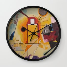 Wassily Study Repro yellow red blue 1925  Wall Clock
