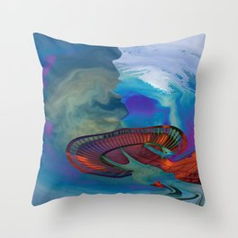 Needle Collapse Throw Pillow