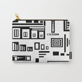 Black Over White Carry-All Pouch