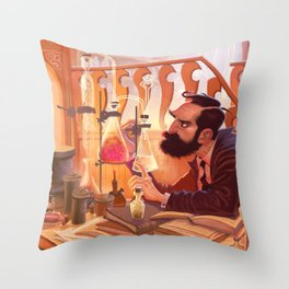 The Chemist Throw Pillow