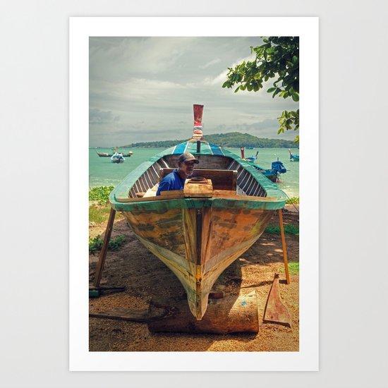 Fisherman -  Phuket - Thailand Art Print