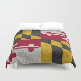 Maryland State flag - Vintage retro style Duvet Cover