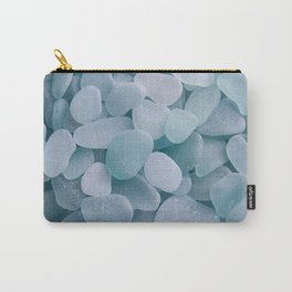 Aqua Sea Glass - Up Close & Personal Carry-All Pouch