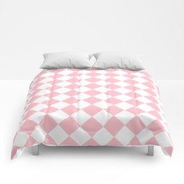 Diamonds - White and Pink Comforters