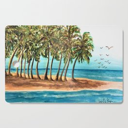 Private Island Painting Cutting Board
