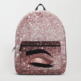 Rose gold Lashes Eye Backpack
