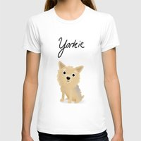 yorkie T-shirts featuring Yorkie - Cute Dog Series by Cassandra Berger