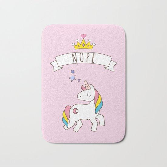Nope Unicorn Bath Mat