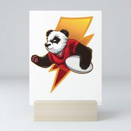 Determined Rugby Panda Wants To Win Mini Art Print