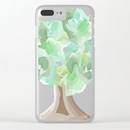 Watercolor tree with a wide trunk Clear iPhone Case