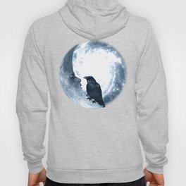 The crow and its Moon. (bcn art version) Hoody