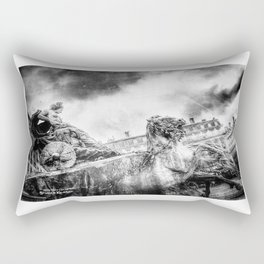 The Knight of Freedom Rectangular Pillow