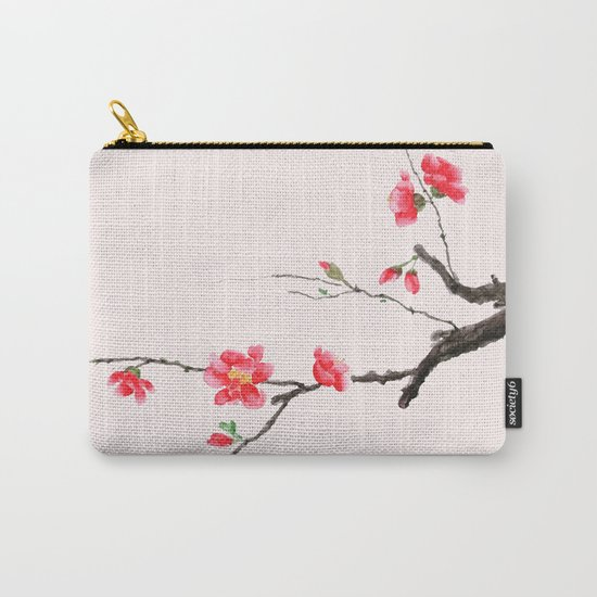 red Japan begonia Carry-All Pouch