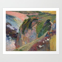 The Flageolet Player on the Cliff by Paul Gauguin Art Print